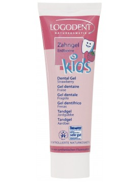 Gel dental Kids Fresa 50ml-Logona